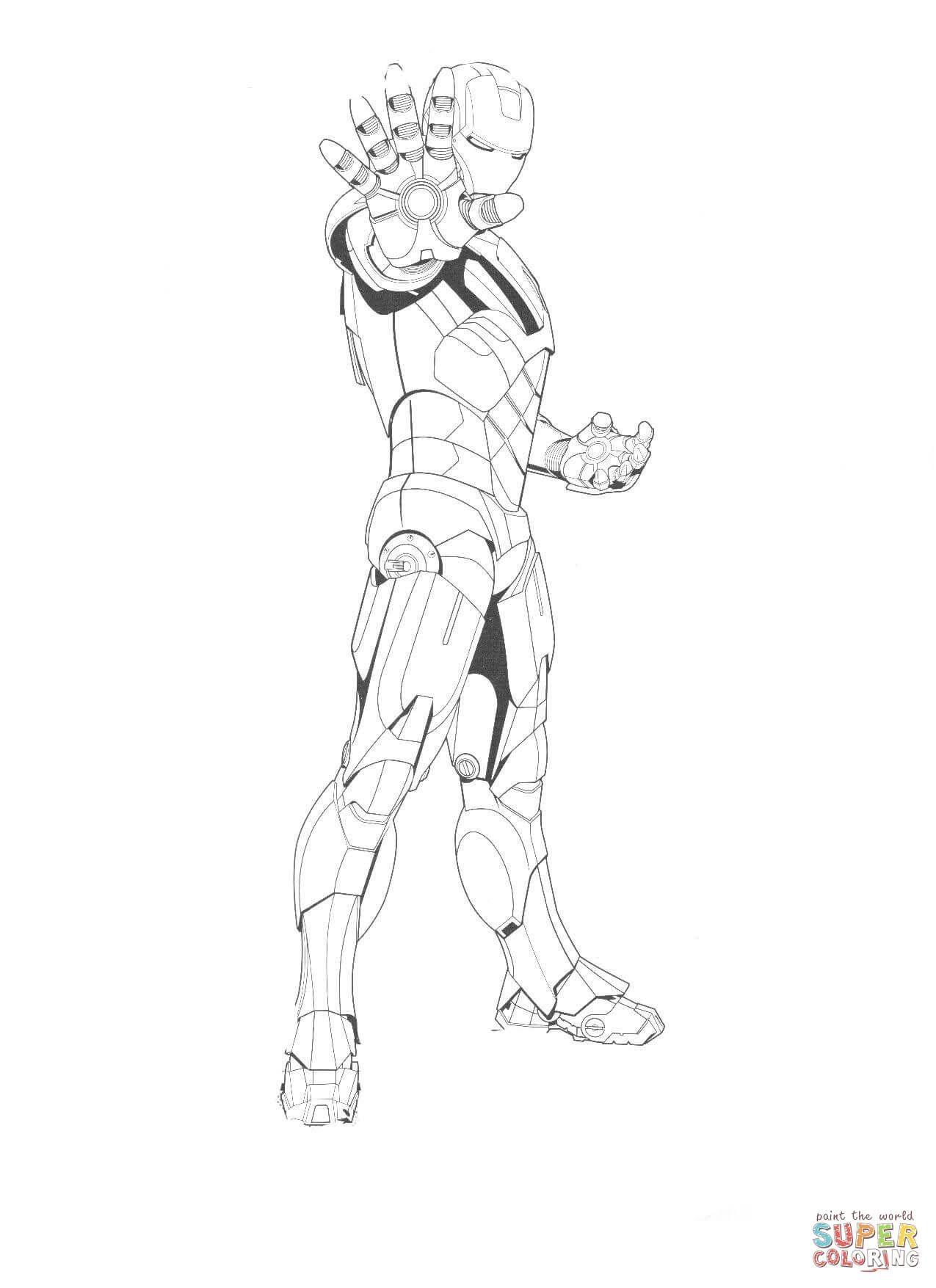 Iron Man Is Ready To Fight Super Coloring Iron Man Iron Man