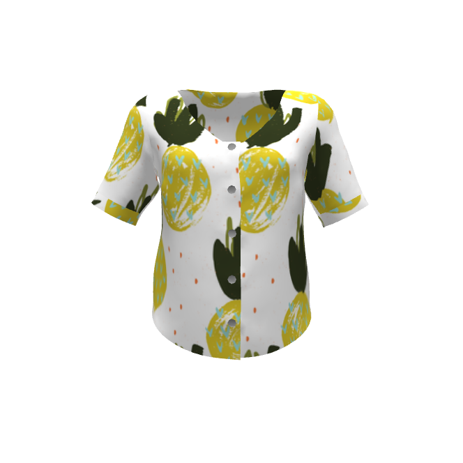 Aster Shirt - Made with #Pineapples by @friztin / @spoonflower @sproutpatterns
