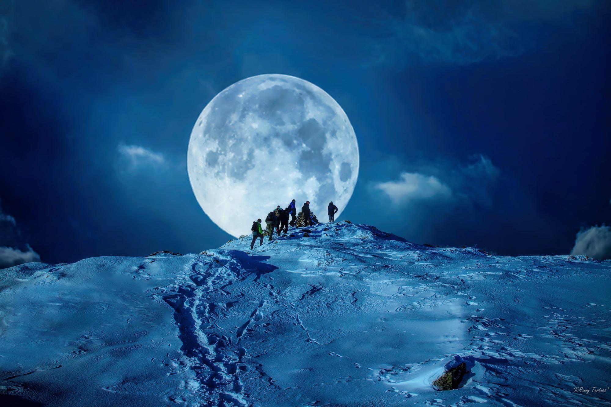 Луна зима картинка