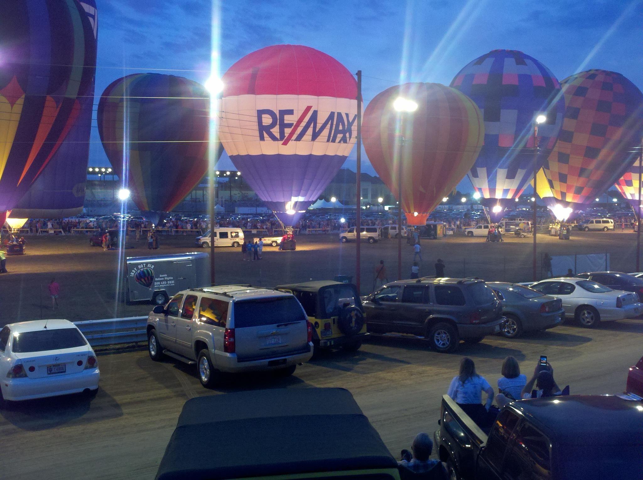 The night balloon glow... an amazing site!