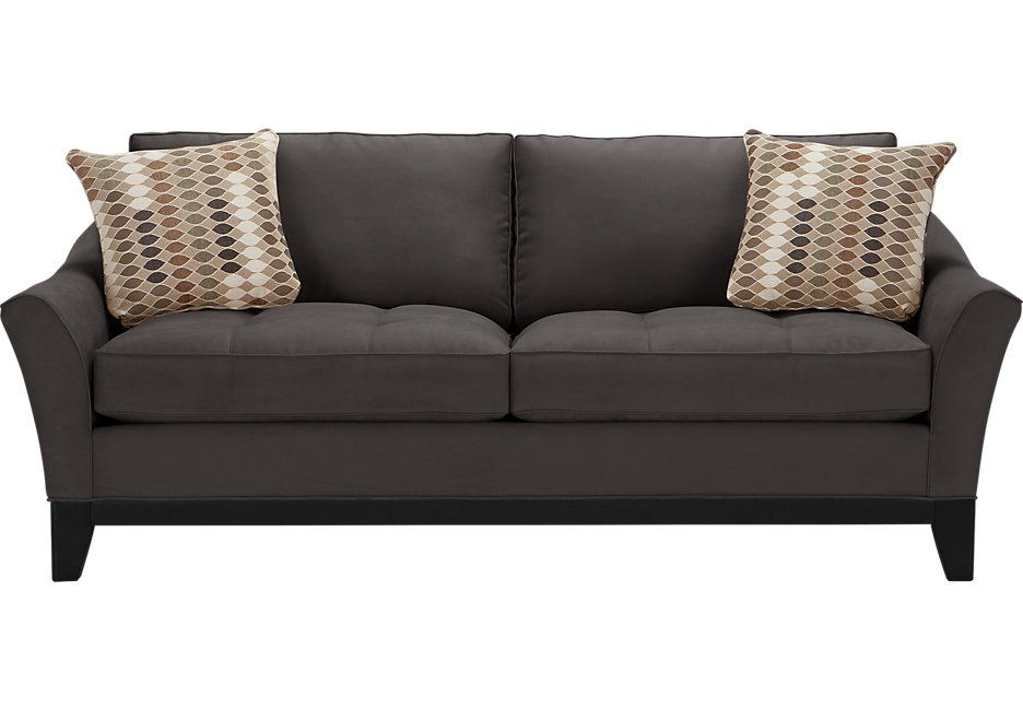 Cindy Crawford Home Newport Cove Slate Sofa Sleeper Sofas Gray