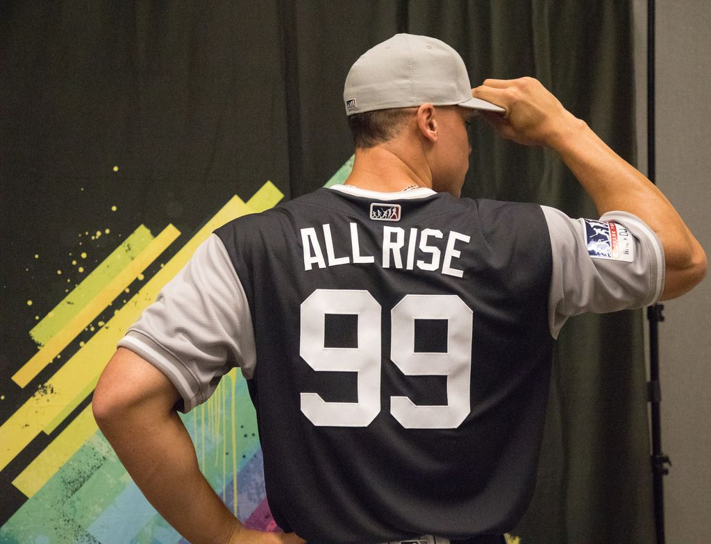 new concept 67987 8389e All Rise! Aaron Judge shows off his... - The Third Eye | New ...