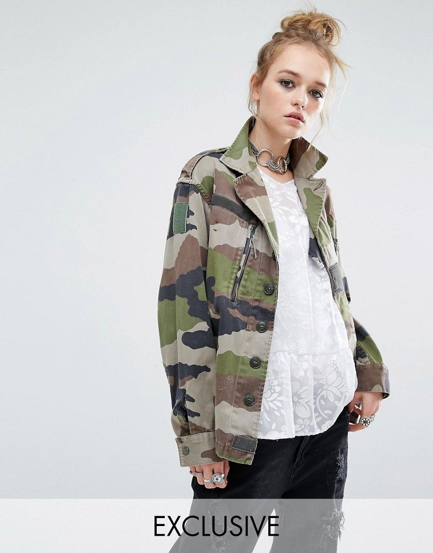 cc05085c823bc Reclaimed+Vintage+Military+Jacket+In+Camo+Print | Clothes | Vintage ...