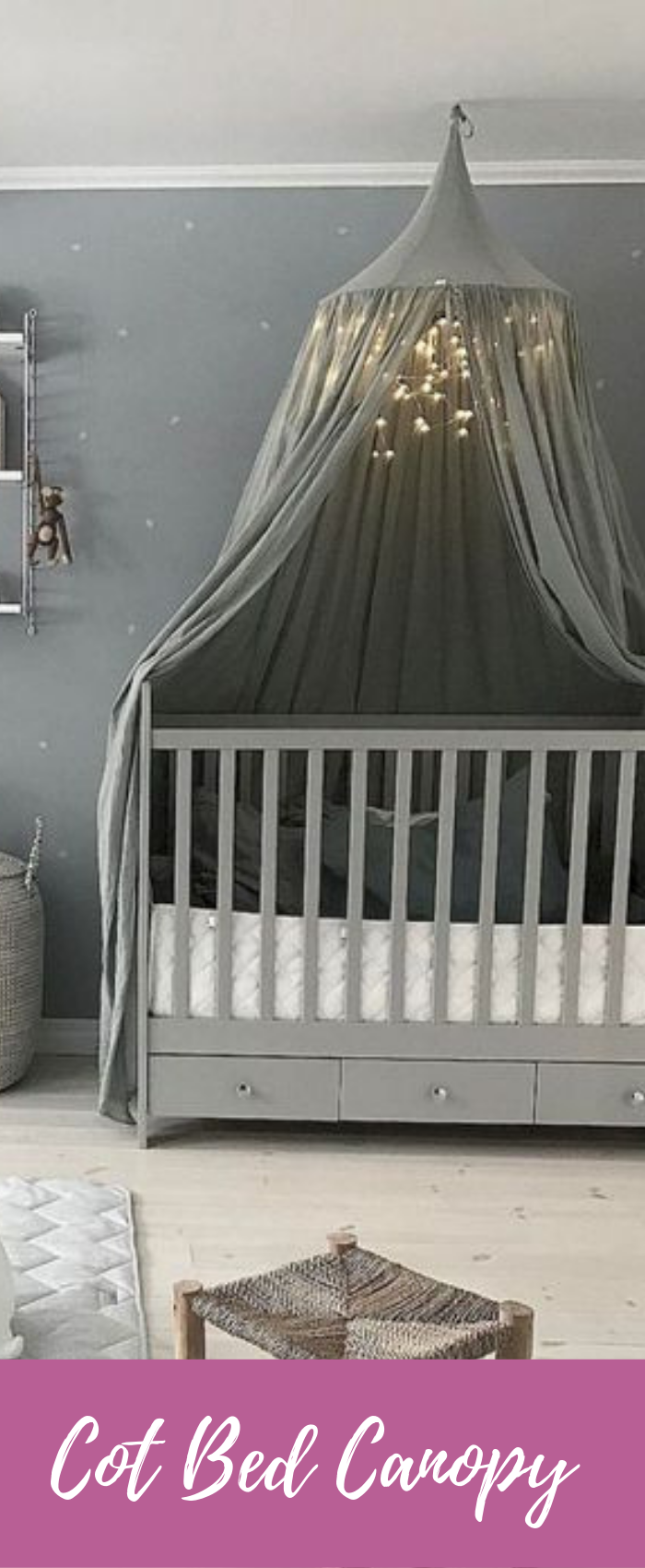 - COT BED CANOPY Blue Decor, Blue Bedding, Cot Bedding