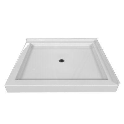Tile Redi 32 In X 36 In Double Threshold Shower Base In Gray