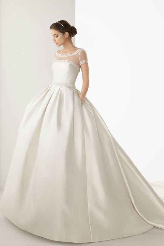 Telas para vestidos de novia 2019