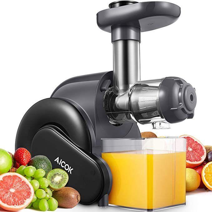 Electric Masticating Slow Juice Maker and Extractor Machine For Fruits Like Lemon Orange NutriChef Stainless Steel Countertop Juicer Lime /& Vegetables PKSJ30