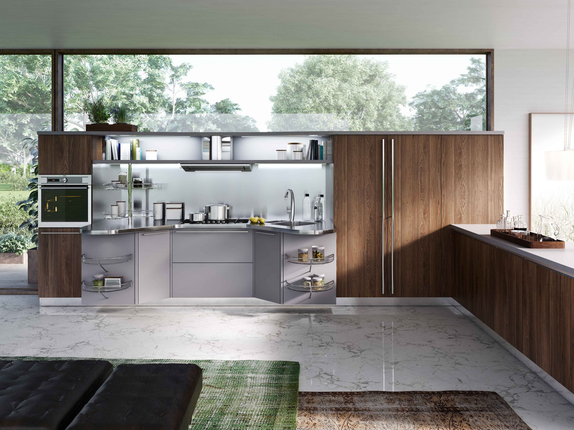 Cucine moderne: cucine design innovative con Skyline 2.0 | Snaidero ...