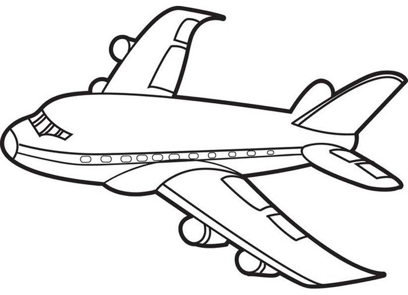 были картинка самолет раскрасить гостей города