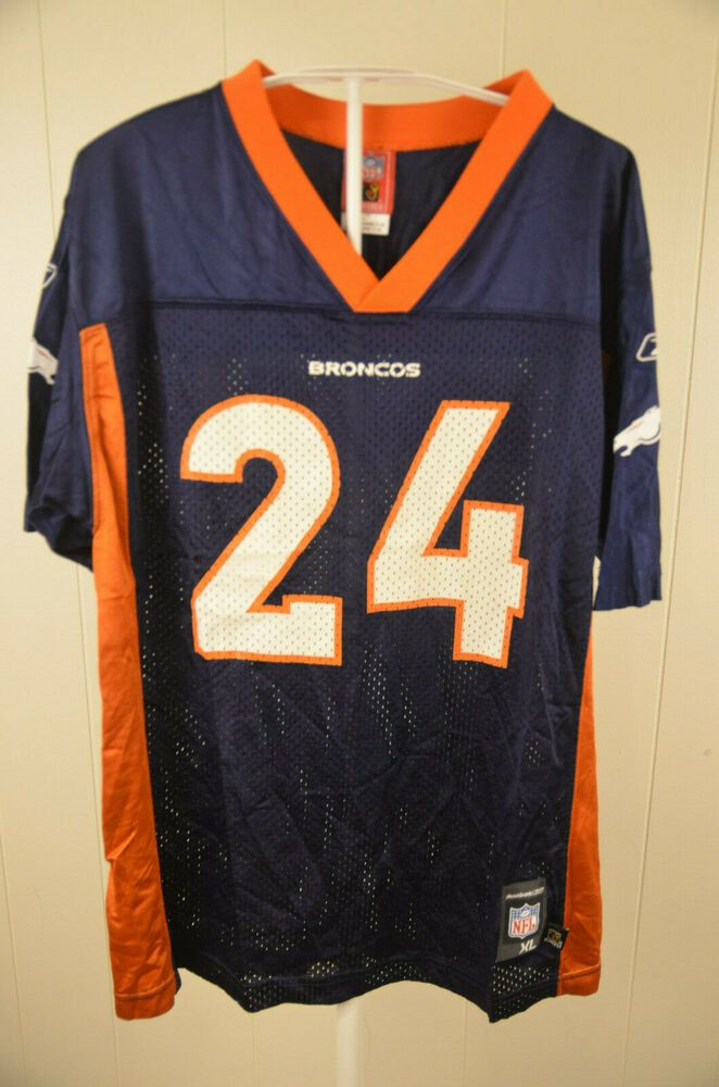 93ff1d096 Reebok Colorado Broncos Jersey #24 Champ Bailey NFL Replica Youth XL Blue # Reebok #