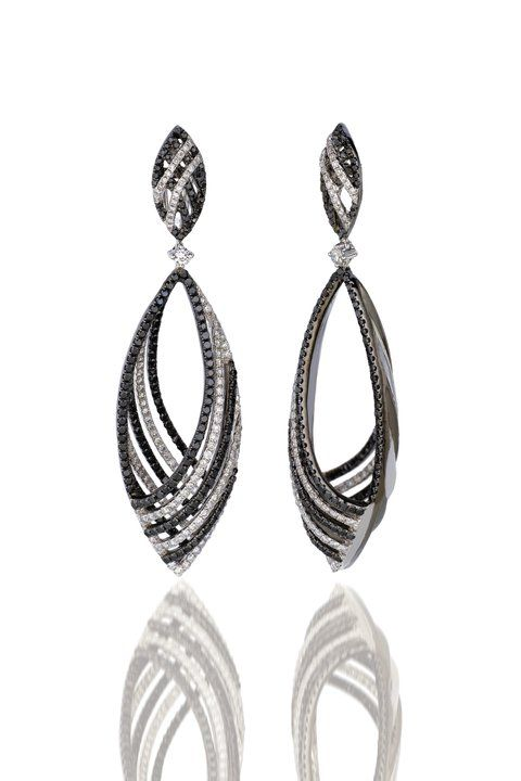black and white diamond earrings available at houston. Black Bedroom Furniture Sets. Home Design Ideas