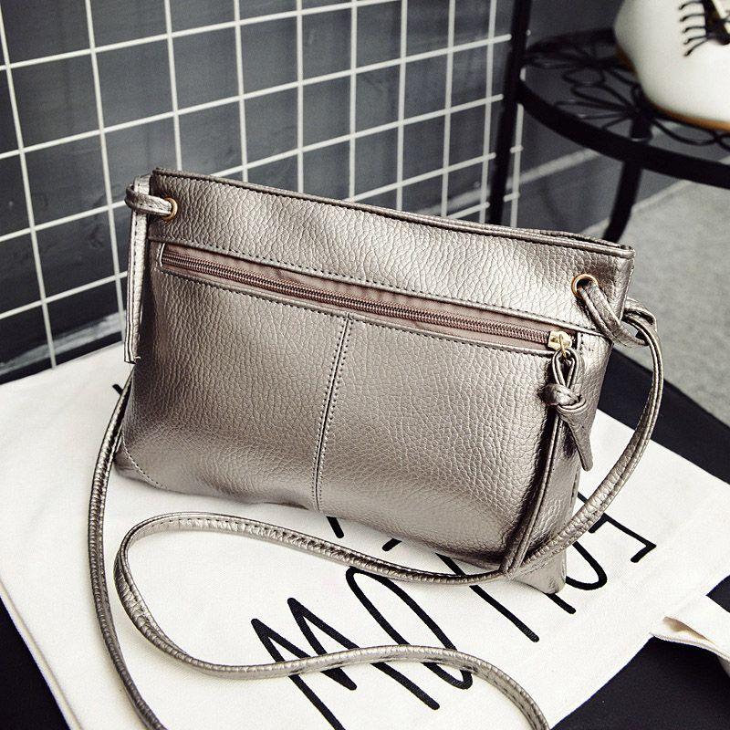 Envelope Women Messenger Bags Solid Fashion Zipper PU Leather Small  Shoulder Bags Female Crossbody Bag 3171137236597