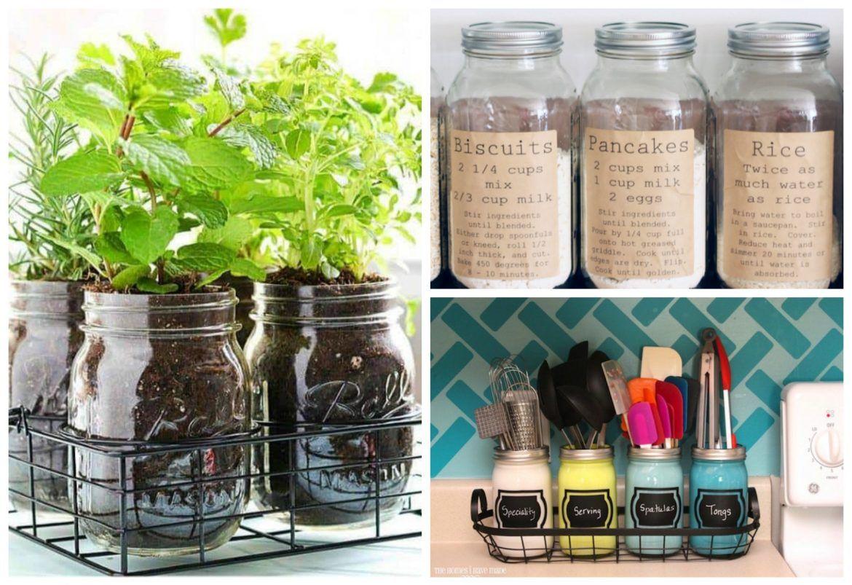 15 Creative Inexpensive Mason Jar Kitchen Storage Ideas Sarah Blooms