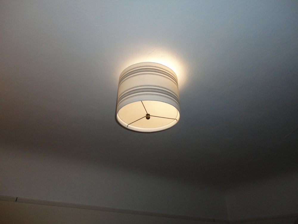 Diy Ceiling Light Cover Plastic The Ceiling Lights Drum Lampshade Diy Ceiling