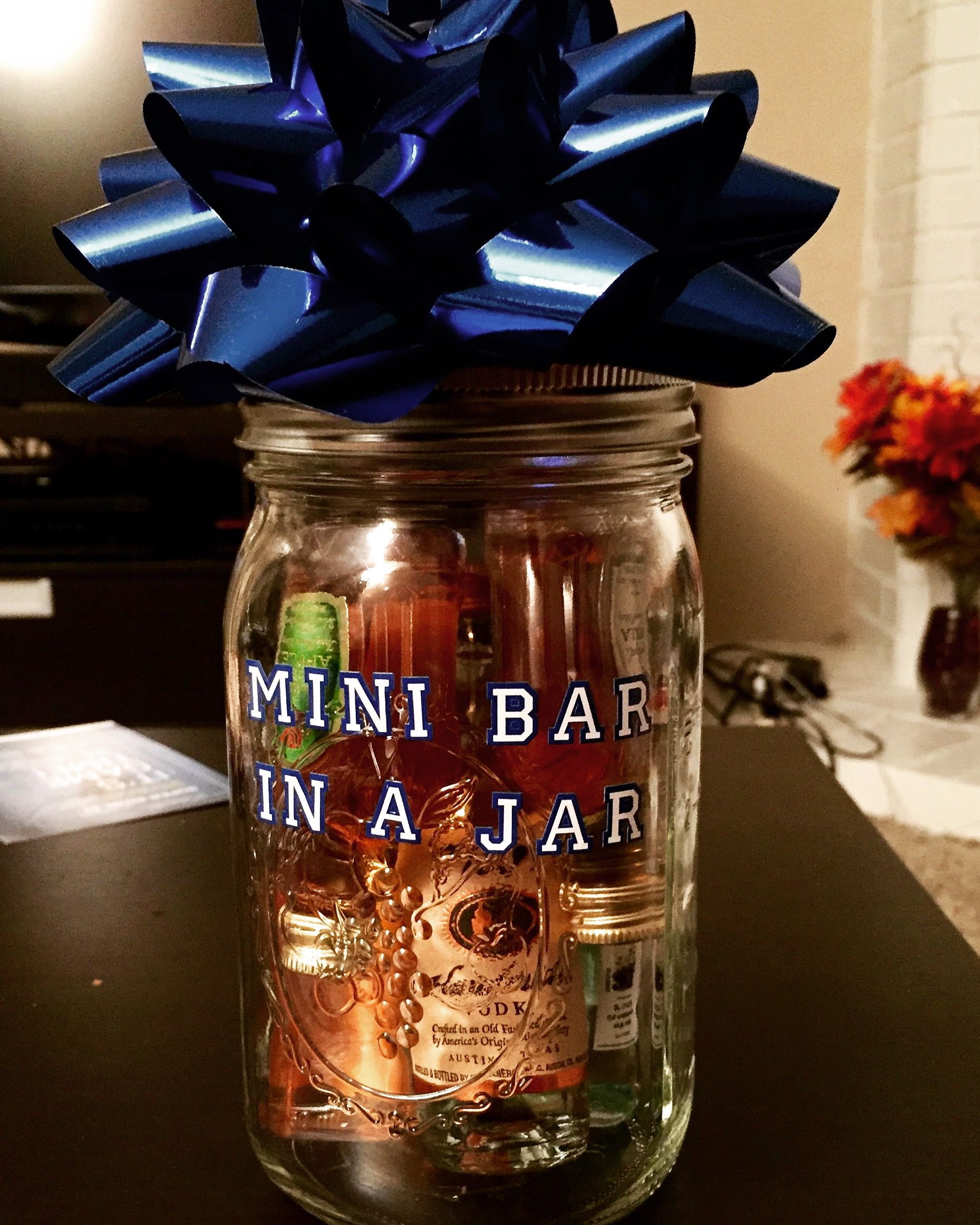Mini Bar In A Jar Great Gift Idea Teacher Christmas Gifts Creative Valentines Gift Christmas Gifts For Adults