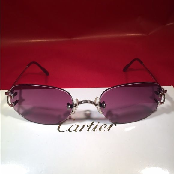 31bc6a4098 Cartier sunglasses Cartier sunglasses chrome color with grey purple lenses!  Cartier Accessories Glasses