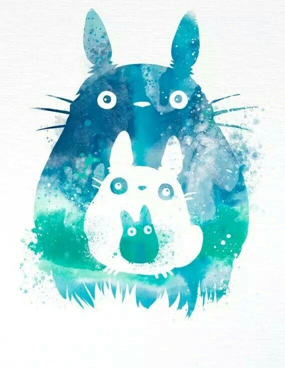 ジブリ 水彩画 2020 カワイイアニメ トトロ ジブリ