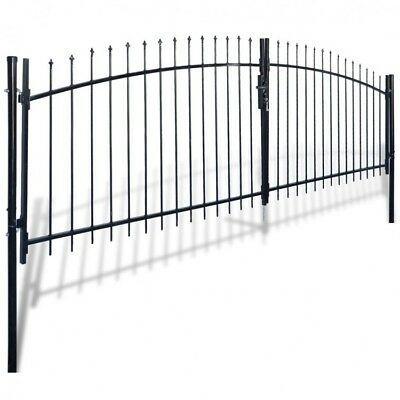 #eBay #SALES #home_garden_discounts Garden Fence Gate Spear Top Double Door Patio Barrier Steel Rail… #eBay #SALES #home_garden_discounts