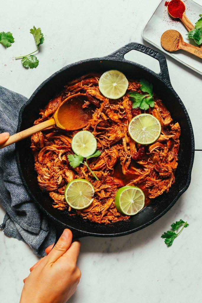 1-Pan Mexican Shredded Chicken   Minimalist Baker Recipes