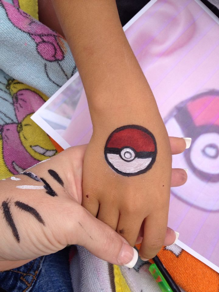 Pokemon face paint by me www.funnybunnyentertainment.com