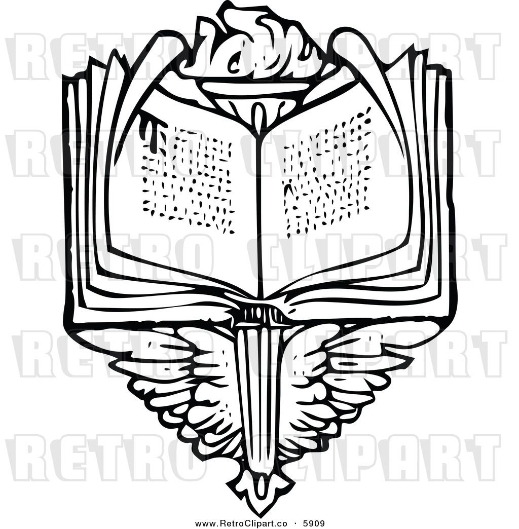 11 Torch And Book Clipart