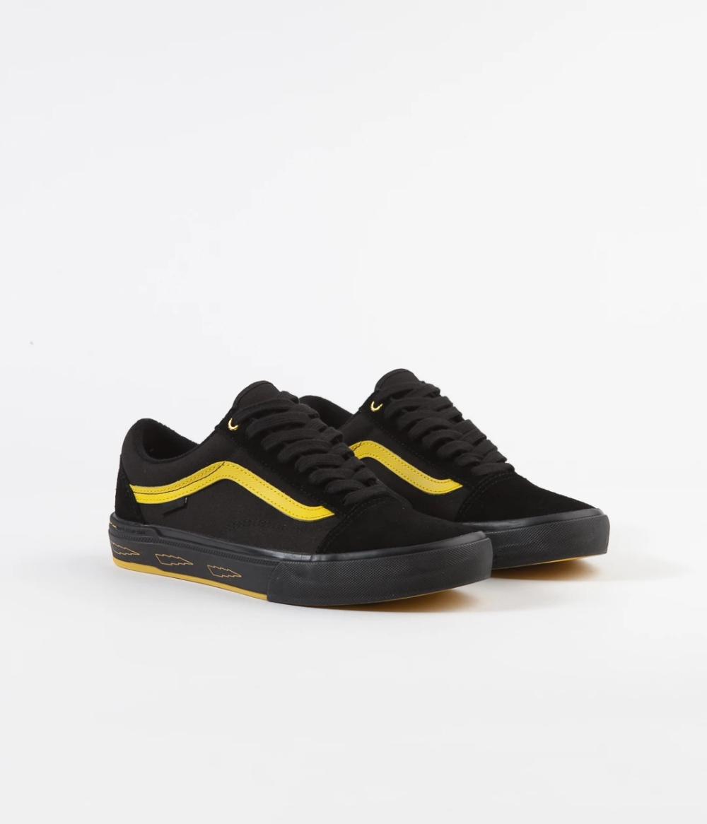 Vans Old Skool Pro BMX Shoes (Larry Edgar) Black Yellow