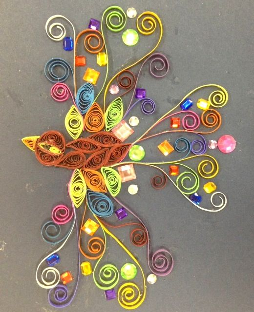 Independent project paper quilling beautiful paper for Paper quilling art projects