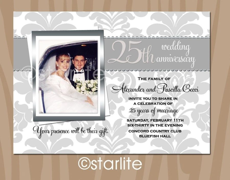 27 Excellent Image Of 25th Wedding Anniversary Invitations Denchaihosp Com 25th Wedding Anniversary Invitations Anniversary Invitations Wedding Anniversary Photos
