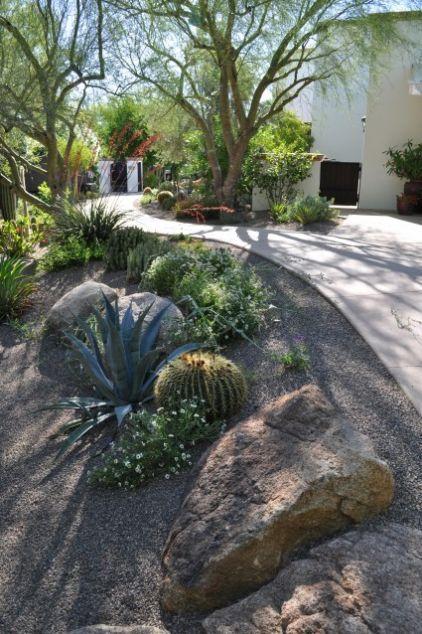 min ral graviers agaves jardin sec aride pinterest gravier jardins et le jardin. Black Bedroom Furniture Sets. Home Design Ideas