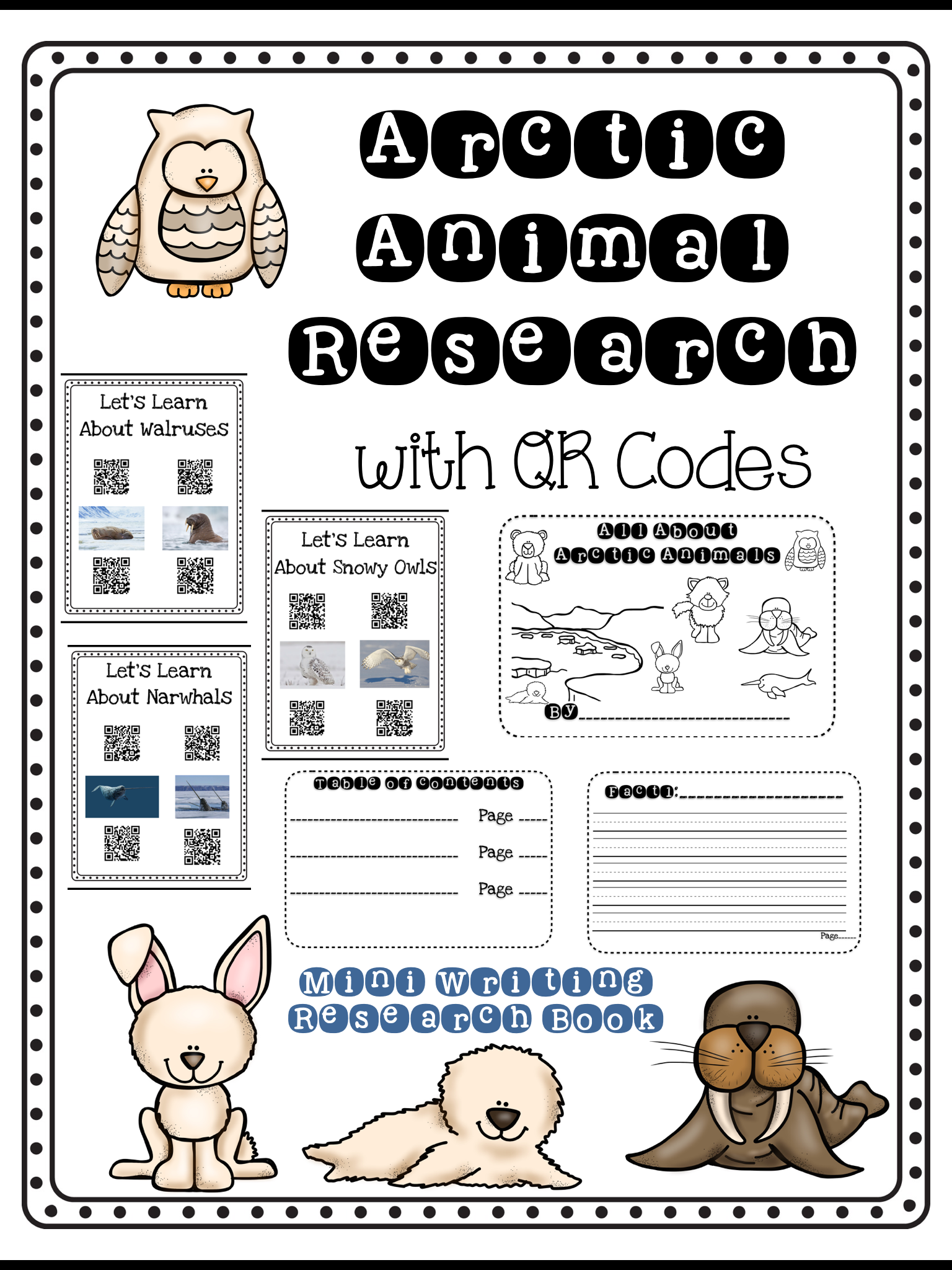 Arctic Animal Qr Code Research With Nonfiction Writing