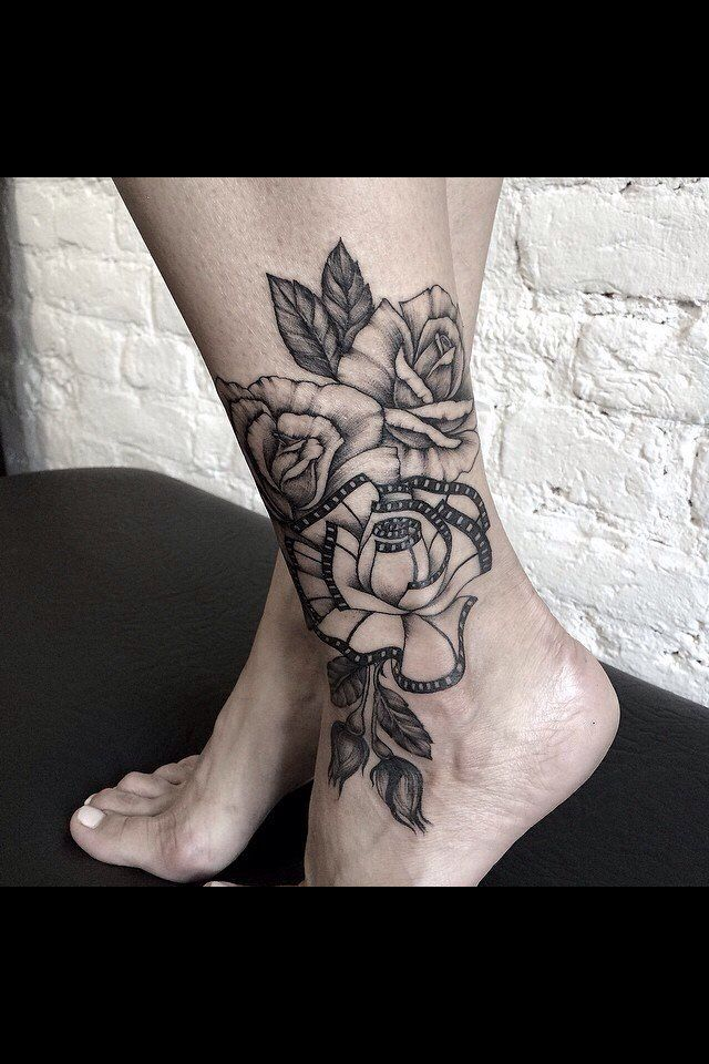 Roses Ankle Tattoo Tattoos Rose Tattoo On Ankle Rose Tattoos