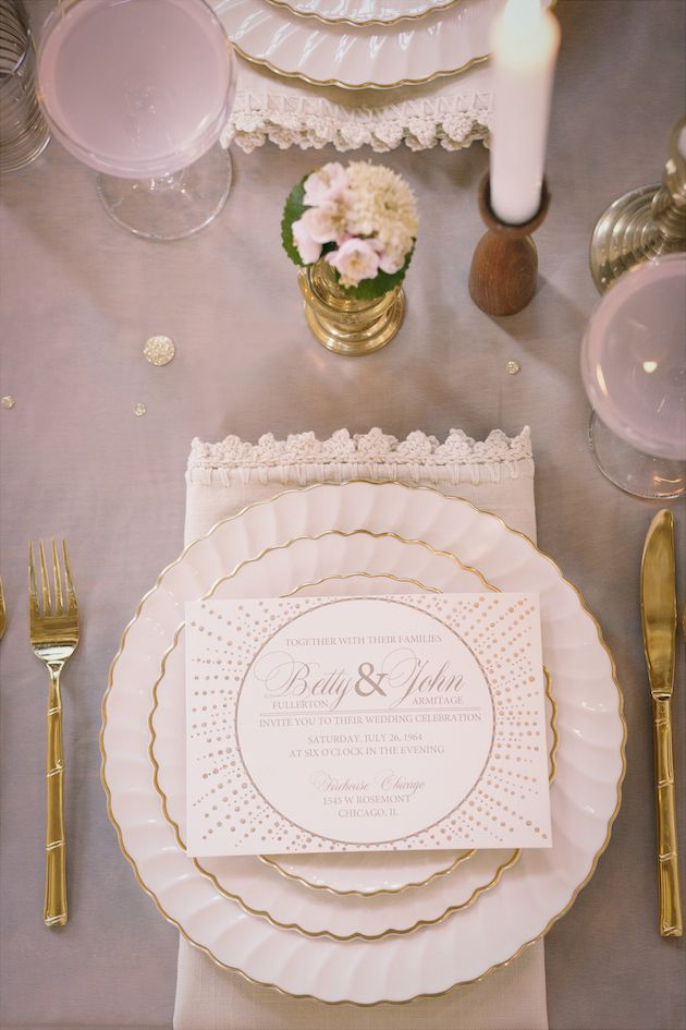 Golden Anniversary Shoot Part 1: 1964 Vintage Wedding Inspiration