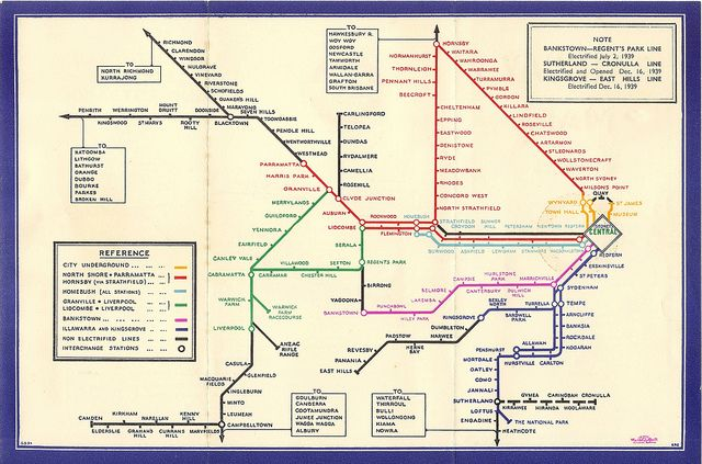 Sydney Suburban  U0026 City Underground Railway Map Diagram
