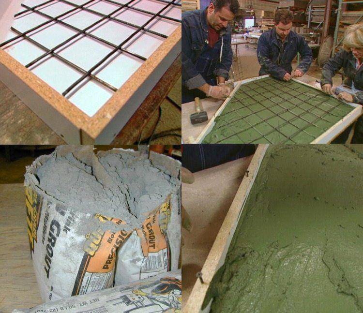 Arbeitsplatte Aus Beton 30 Ideen Fur Neue Oberflache In Der Kuche Avec Images Plan De Travail Plan De Travail Beton Beton Cire