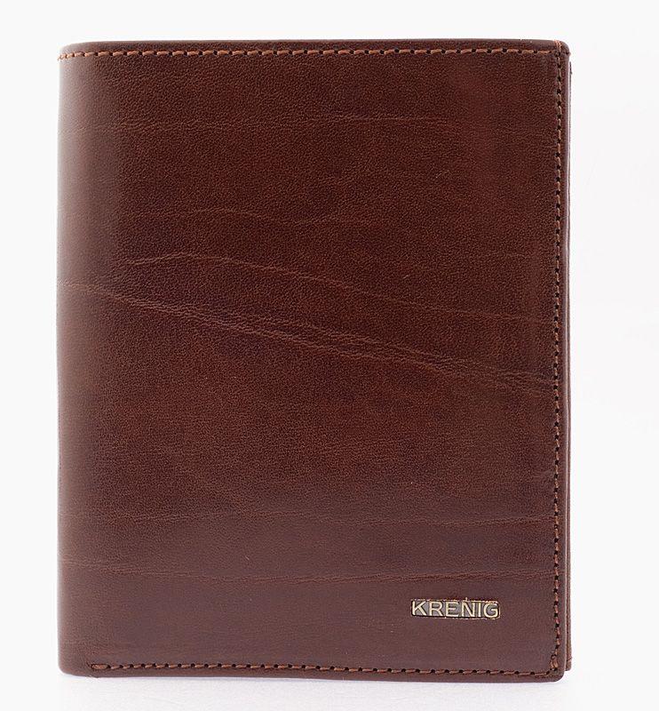 Genuine real leather brown vertical wallet el dorado