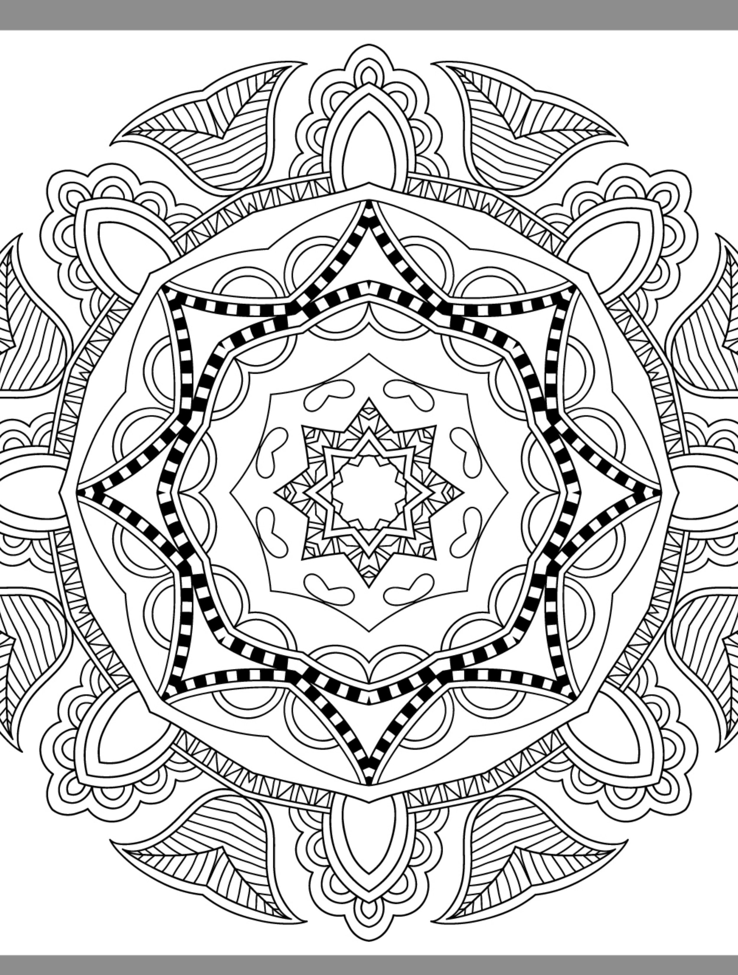 cool mandalas coloring pages | 24 More Free Printable Adult Coloring Pages | Halloween ...