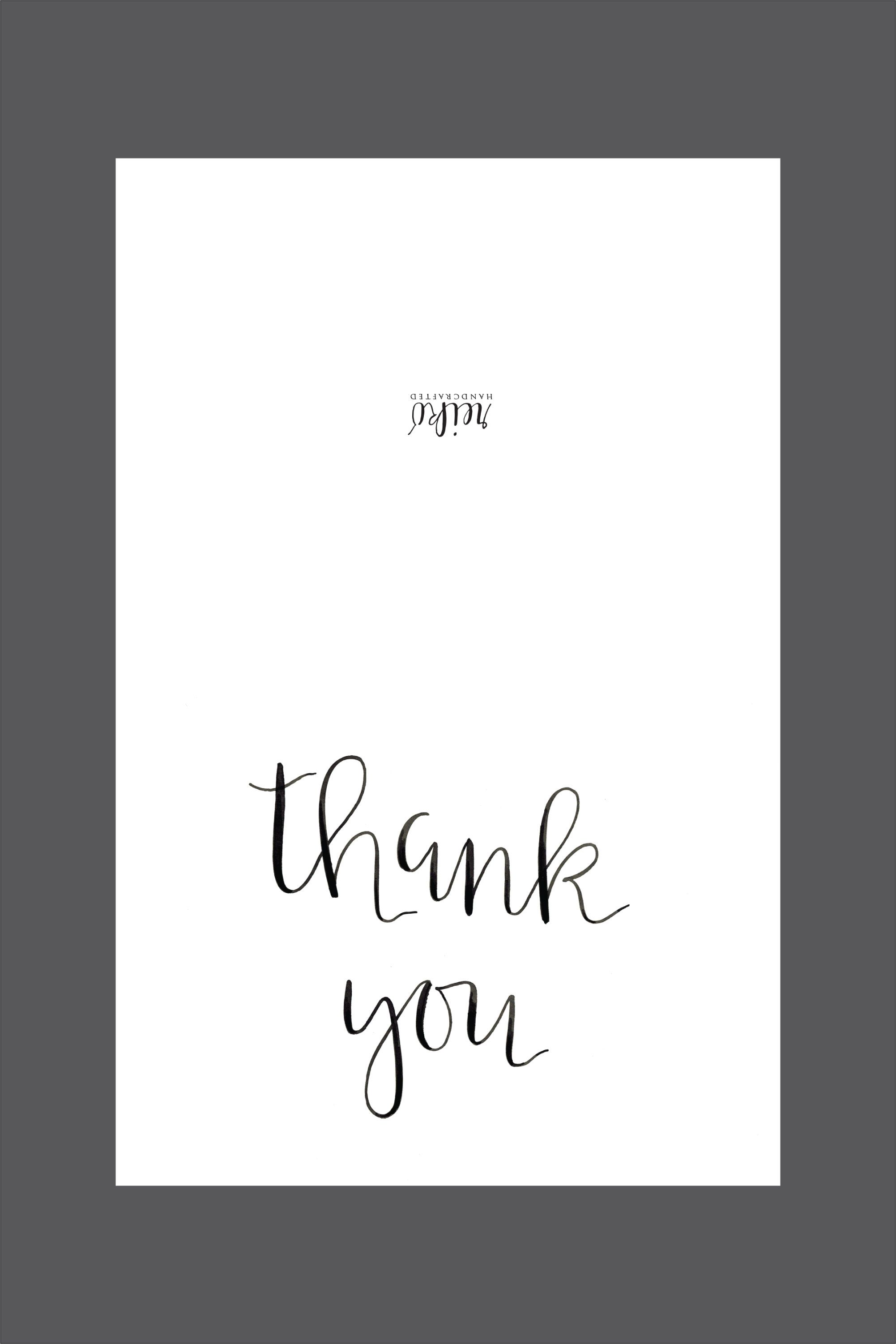Free Printable Thank You Card Instant Download Hot Hands Bakery Printable Thank You Cards Thank You Card Template Thank You Cards
