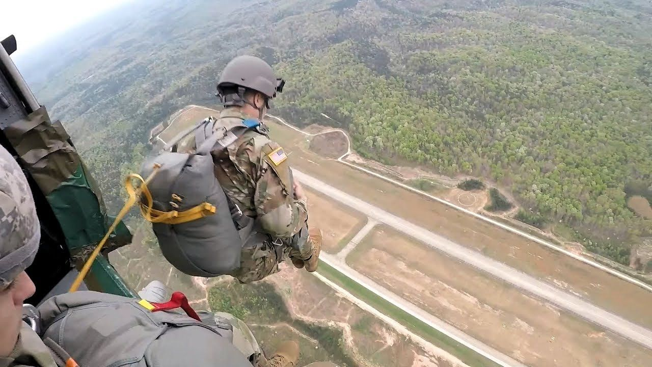 Silver Comet Airborne Jump Black Hawk Helicopter Airborne Paratrooper