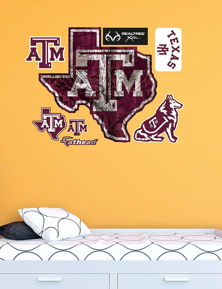 Fathead 8-pc. Texas A&M Aggies Realtree® Logo Wall Decals | Stage ...