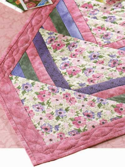 Well-liked Free Spring Flower Runner Quilt Pattern -- Download this free  XQ31