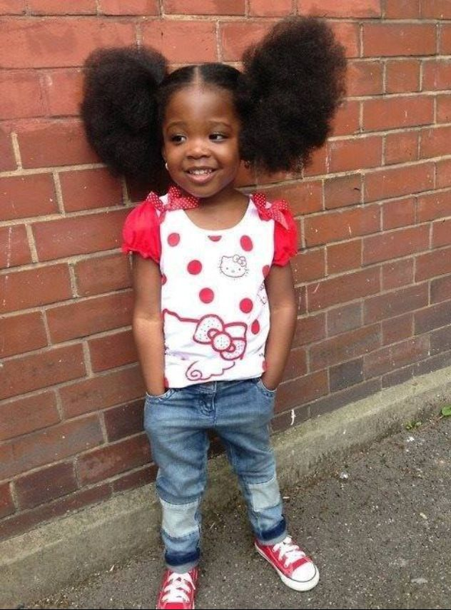Outstanding So Cute And Look At All That Hair Natural Hair Styles Little Natural Hairstyles Runnerswayorg