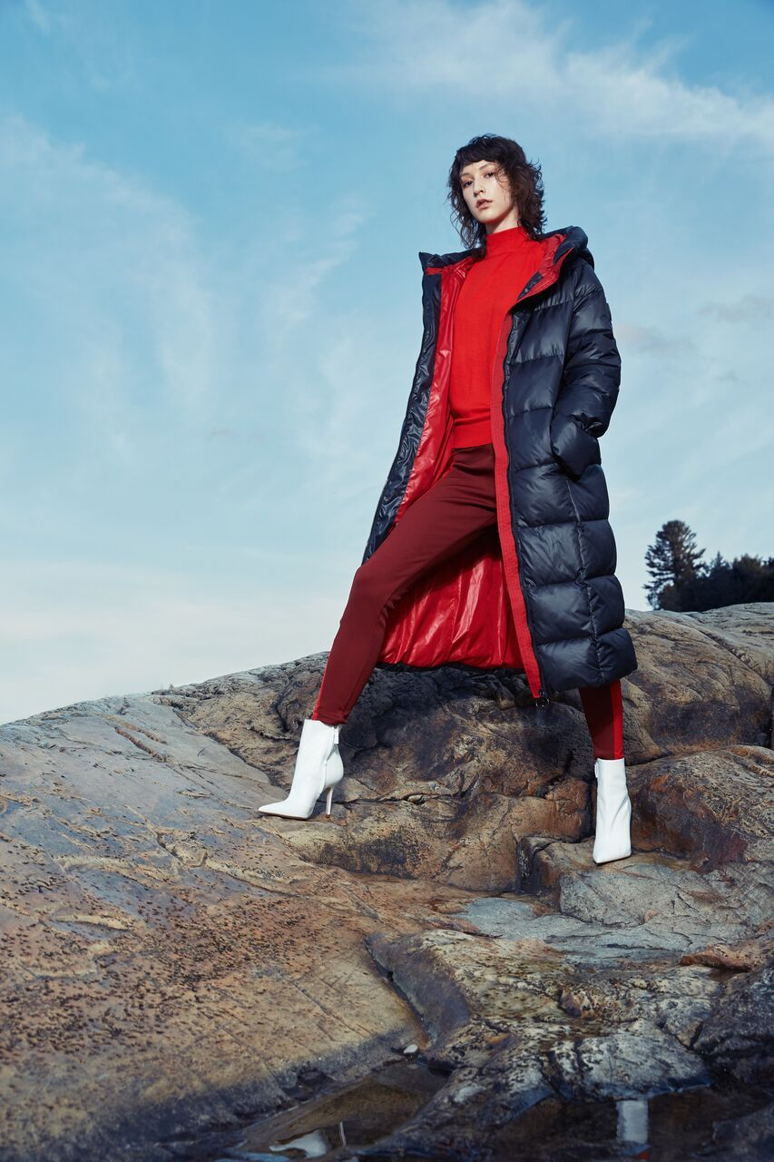 a6aaef8587 Katy Long Puffer Jacket with Contrast Lining – Black | Fall/Winter ...