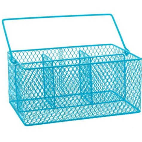 Caribbean Blue Wire Utensil Caddy 9in Party City Ideas