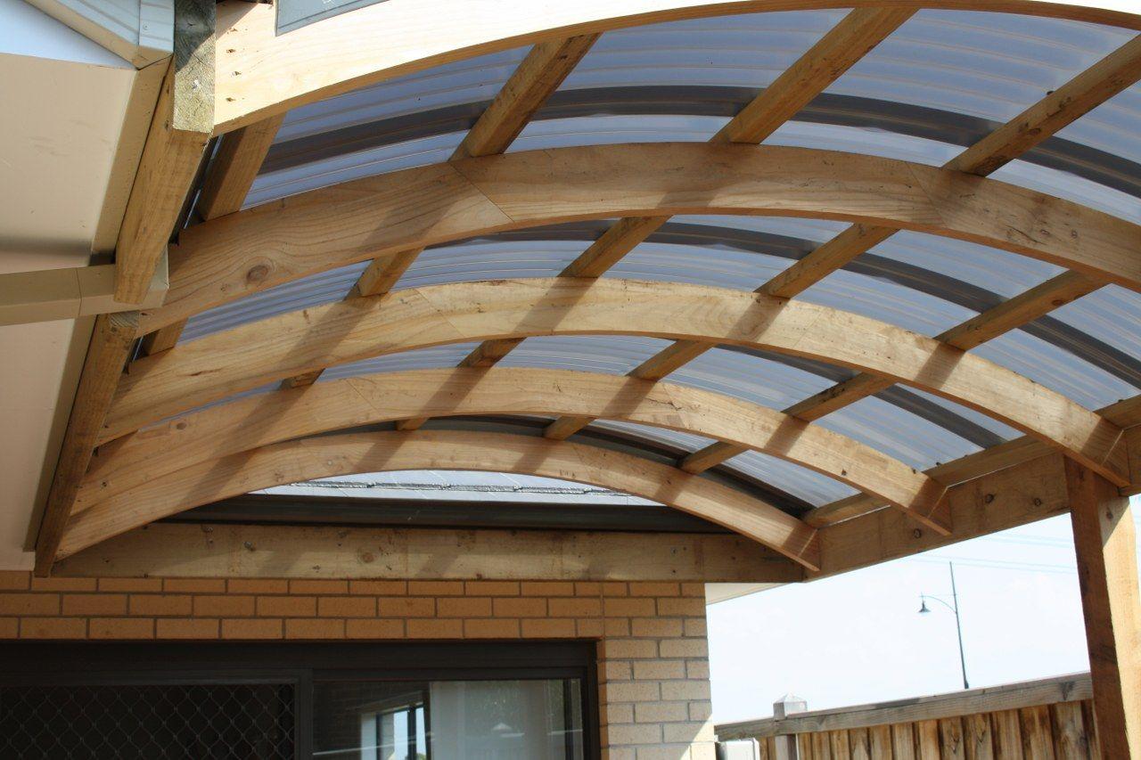 Free Standing Carport Plans cureved roof framework