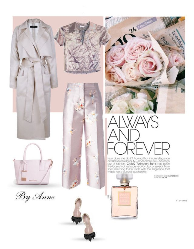 """Always !"" by anne-977 ❤ liked on Polyvore featuring Rochas, Chanel, TIBI and Ted Baker"