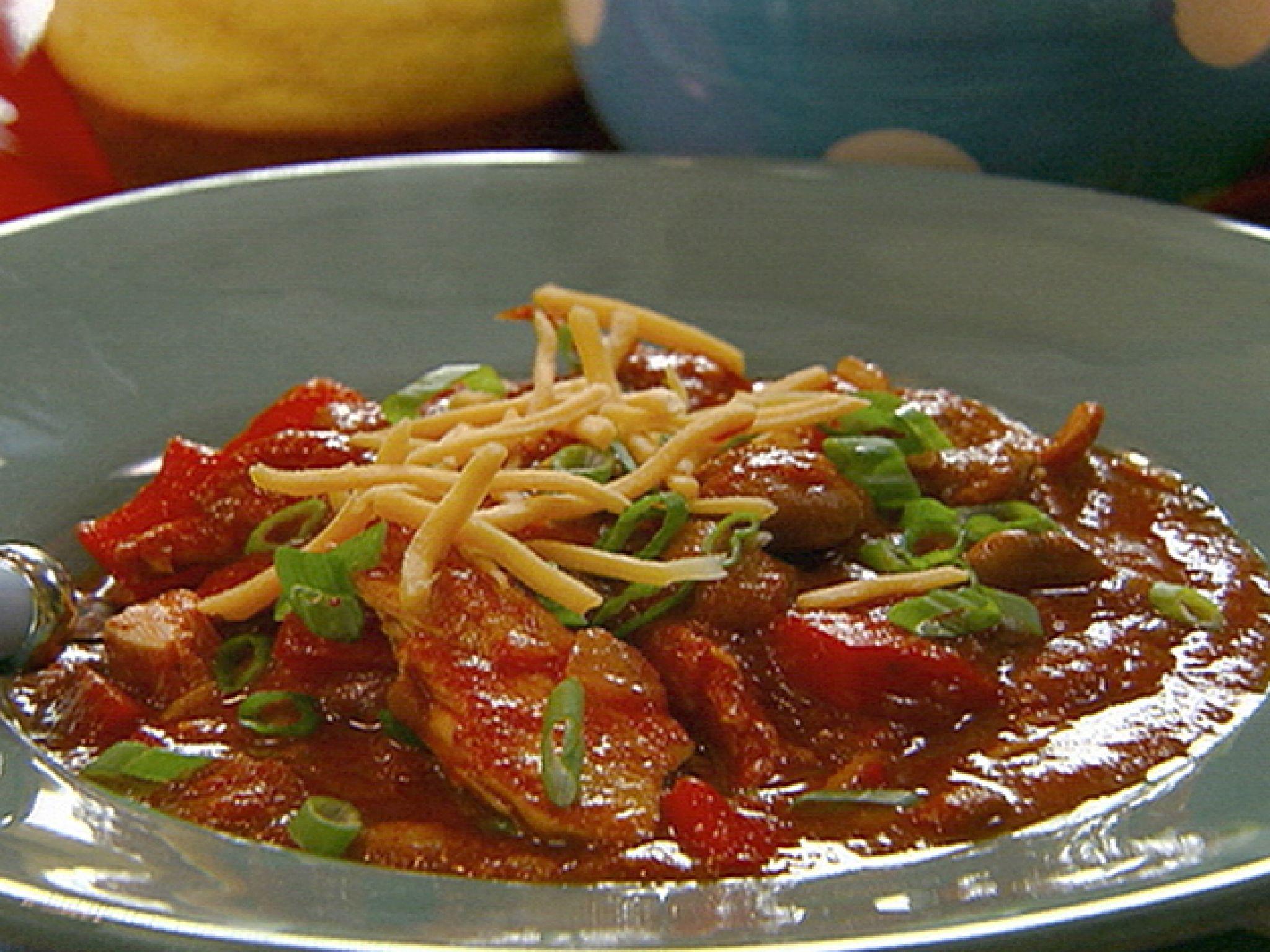 Quick-Fix Chicken Chili Mole recipe from Robin Miller via Food Network