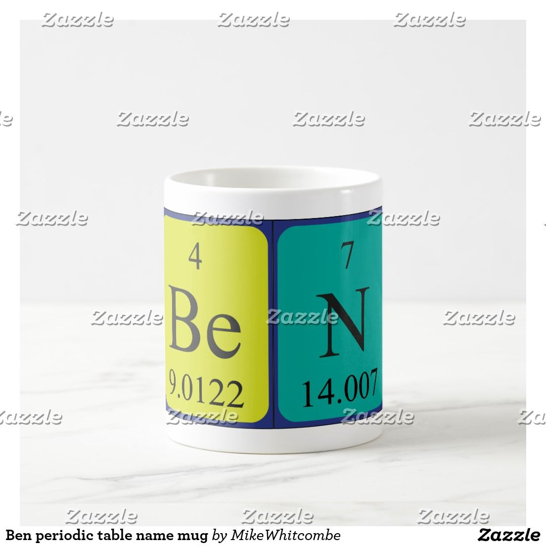 Ben periodic table name mug periodic table ben periodic table name mug urtaz Choice Image
