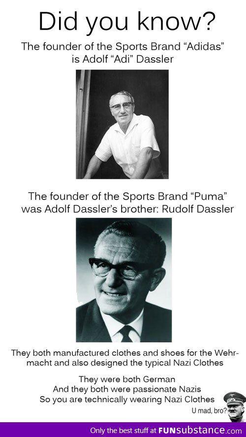 588f704f0901ec Adidas and Puma... I had no idea! Trivia