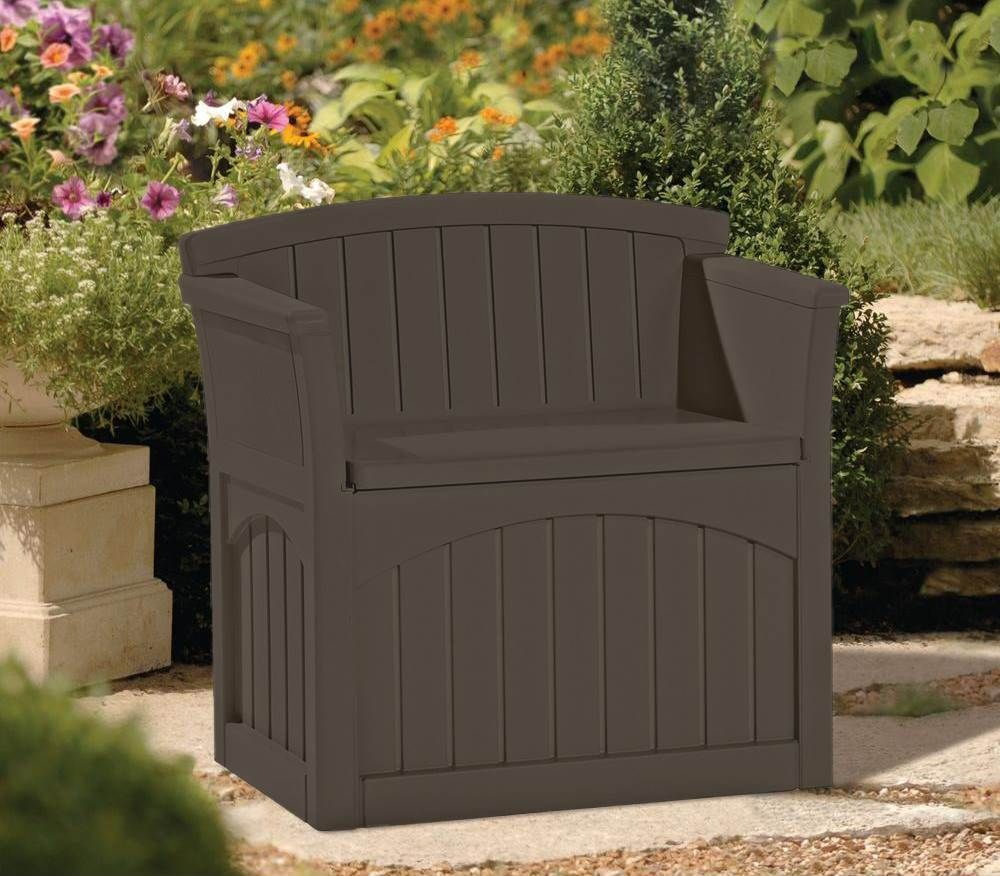 Suncast 31 Gallon Patio Seat Outdoor Storage and Bench