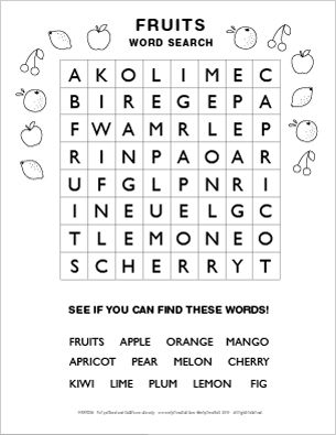 Printable Word Search Puzzles Mr Printables Word Puzzles For Kids Easy Word Search Kids Word Search